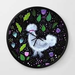Glam Chicken Wall Clock