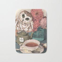Morning Tea Owl Bath Mat