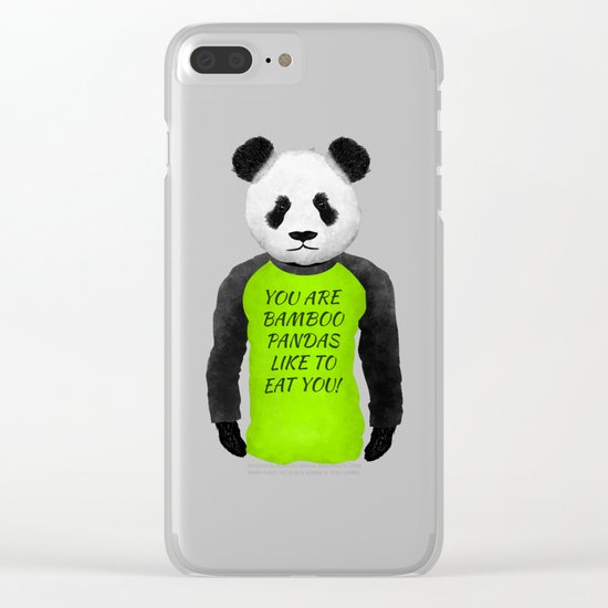 Panda You are Bamboo Clear iPhone Case