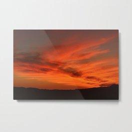 Red and Orange October Sunset Metal Print