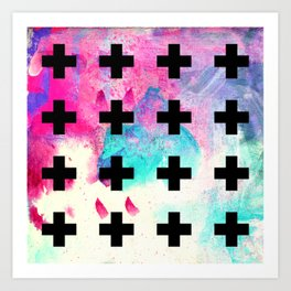 Crosses Art Print