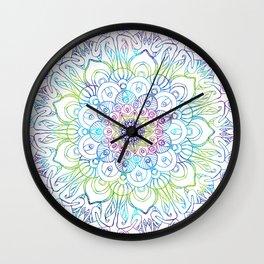 Boho Peacock Mandala Wall Clock