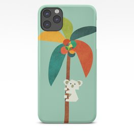 Koala on Coconut Tree iPhone Case