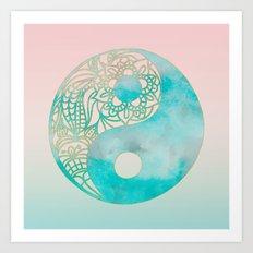 Yin Yang Watercolor Art Print