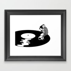 Don't Just Listen, Feel It Framed Art Print