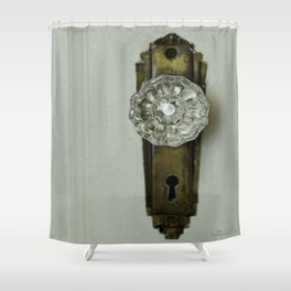 Glass Door Knob Shower Curtain