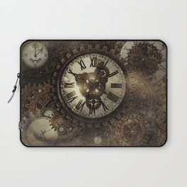 Vintage Steampunk Clocks Laptop Sleeve