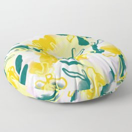 Spring Blooms -  abstract watercolor design Floor Pillow