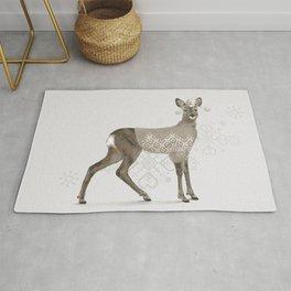 Warmly Clothed Deer Rug