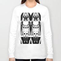 satan Long Sleeve T-shirts featuring HA SATAN HA SATAN by Kathead Tarot/David Rivera