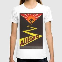 1930 Vintage Allegro Swiss Motorcycle Dealer Sign - Poster Advertisement T-shirt