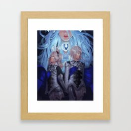 I chose my fate Framed Art Print