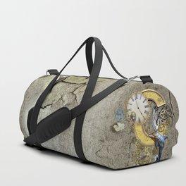 Steampunk letter C Duffle Bag