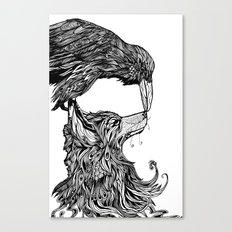 Fox and the Crow Canvas Print