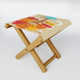 Tea Leaves Folding Stool