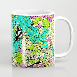 TREES PINK AND GREEN ABSTRACT Coffee Mug