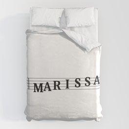 Name Marissa Duvet Cover