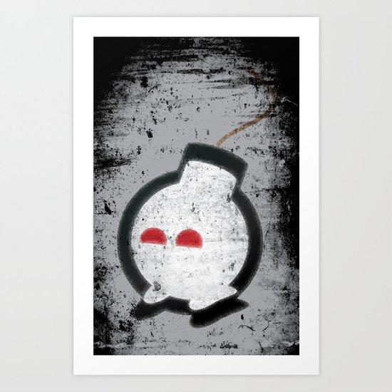Happy Bombs Art Print