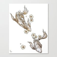 Mechanical Koi Canvas Print