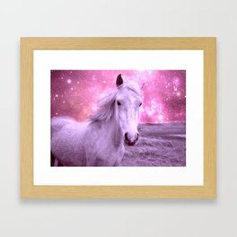 Pink Horse Celestial Dreams Framed Art Print