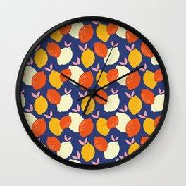 Bright and Bold Lemon Print Wall Clock