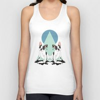 pugs Tank Tops featuring Pugs (Blue) by Anna McKay