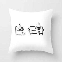 read sitting room sofa Throw Pillow