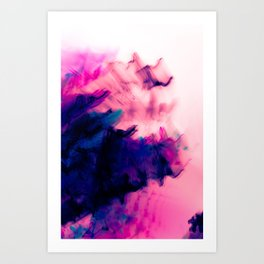 Secrets and Confusion Blurry Abstract Art Print