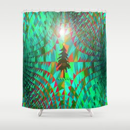 Christmas in Outer Space... Shower Curtain