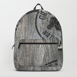 Great Smoky Mountains National Park Vintage Wood Travel Print Backpack