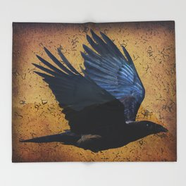 Raven's Mountain Art Print Throw Blanket