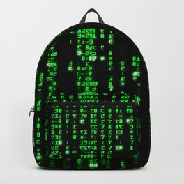 Matrix Binary Code Backpack