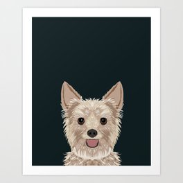 Tanner - Yorkshire Terrier gifts and gifts for dog person and dog people gift ideas Art Print