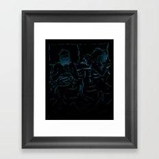 Break in Bed Framed Art Print