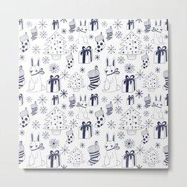 Christmas rabbit Metal Print