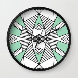 Triangle Tribal Mint Wall Clock