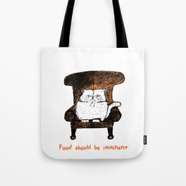 Food should be Imminent (Orange) Tote Bag