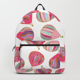 Modern pink colorful watercolor hot air balloons Backpack