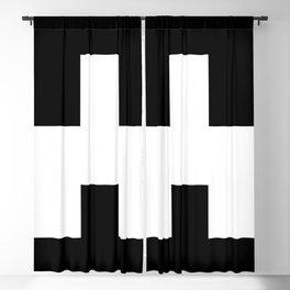 The Baxter's balaclava glyph on Black Mirror Blackout Curtain