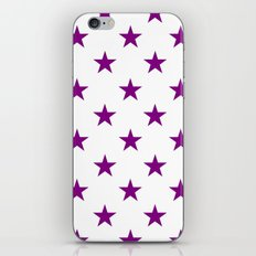 Stars (Purple/White) iPhone & iPod Skin