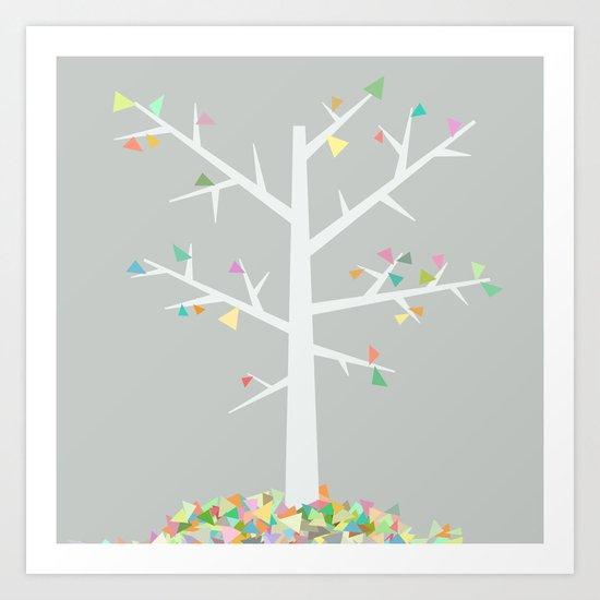 Graphic Tree  Art Print