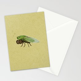 Cicada Playing a Sqeezebox Stationery Cards