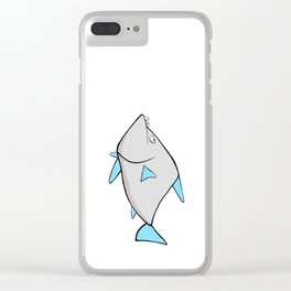 Scribble2Masterpiece - WARY PIRANHA fish! Clear iPhone Case