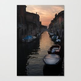 Canal at Sunset Canvas Print