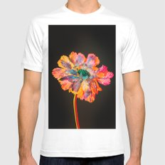 Psychedelic Floral Dew MEDIUM White Mens Fitted Tee