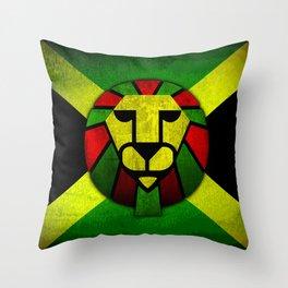 Rasta Lion. Throw Pillow
