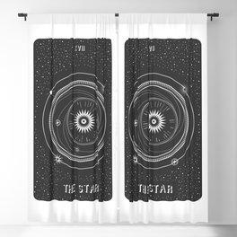 Minimal Tarot  Deck The Star Blackout Curtain