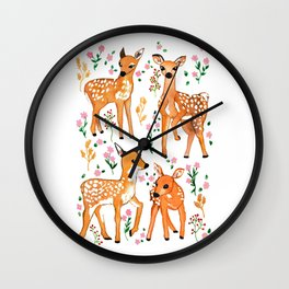 Springtime Deer  Wall Clock