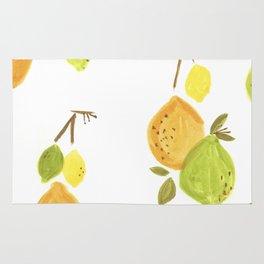 Lemons & Limes Kitchen print Rug
