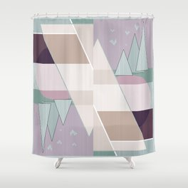 Pastel tone . Abstraction . Shower Curtain